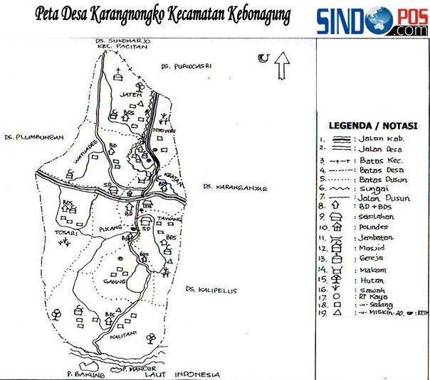 Profil Desa & Kelurahan, Desa Karangnongko Kecamatan Kebonagung Kabupaten Pacitan