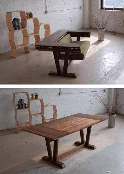 Furnitur rumah unik, meja + Kursi