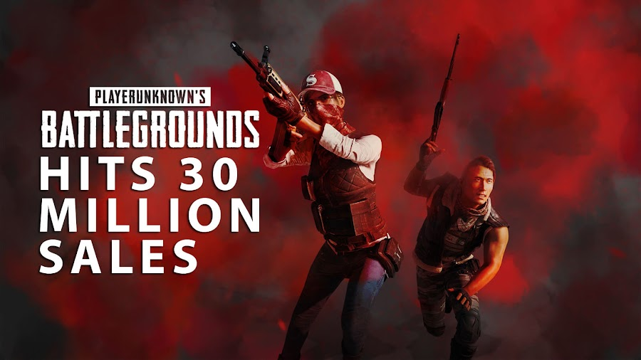 playerUnknown's battlegrounds 30 million sales