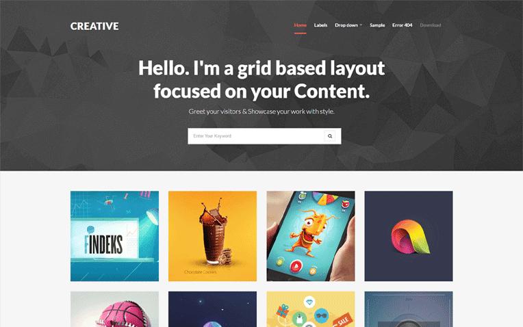 Creative Free Blogger Template