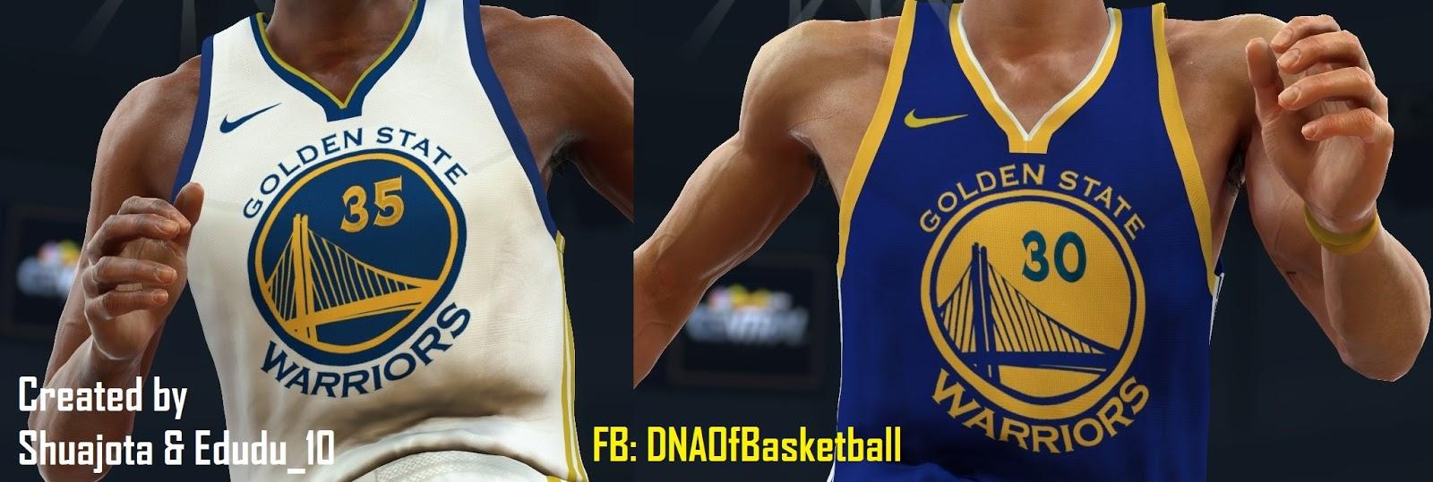 DNA Of Basketball | DNAOBB: NBA 2K17 Golden State Warriors Jerseys 2017-2018 by Shuajota & Edudu ...