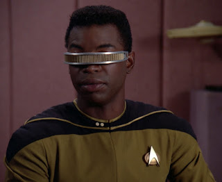 Geordi switched to gold
