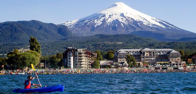 Lago Villarrica em Pucón, no Chile