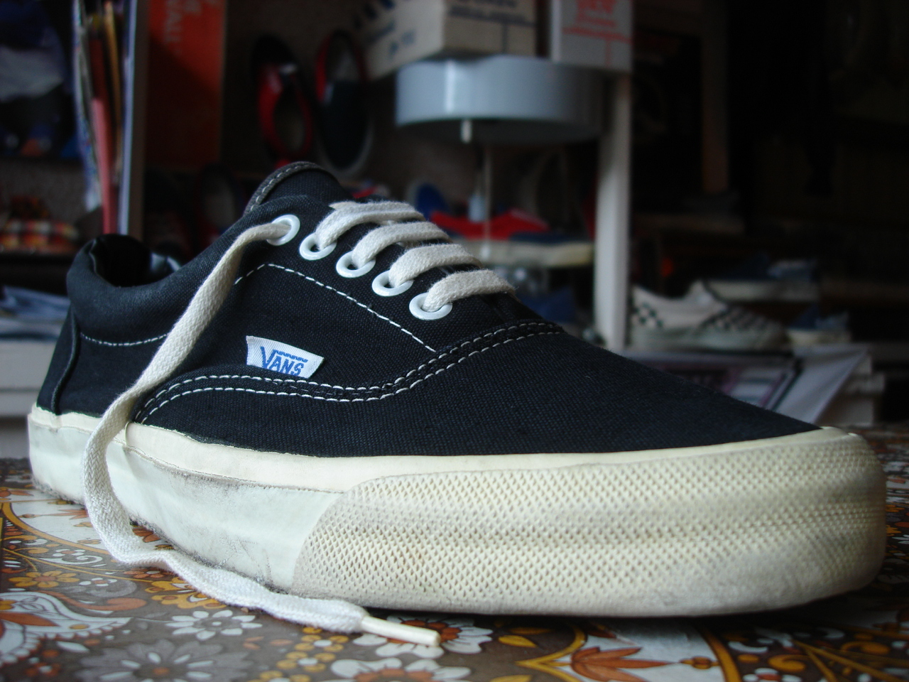 5bbb4a6f67389e vintage vans style  95 era black canvas made in usa circa 1983 used  (without box) US9.5 UK8.5-9