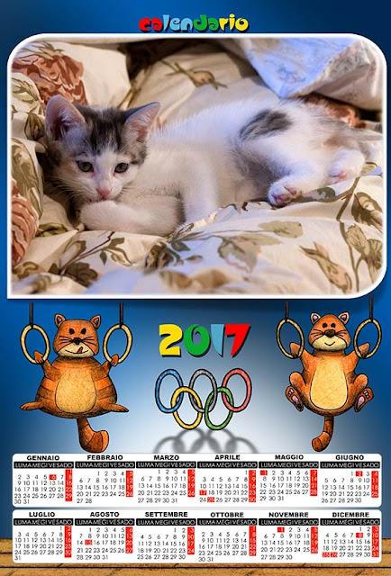 Calendario 2017 olimpiadi