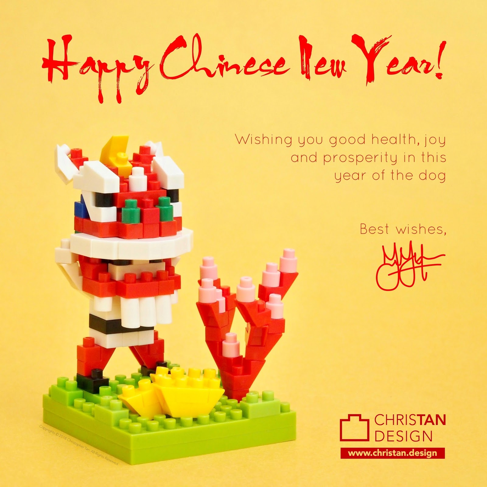 Christopher Tan Happy Chinese New Year 2018