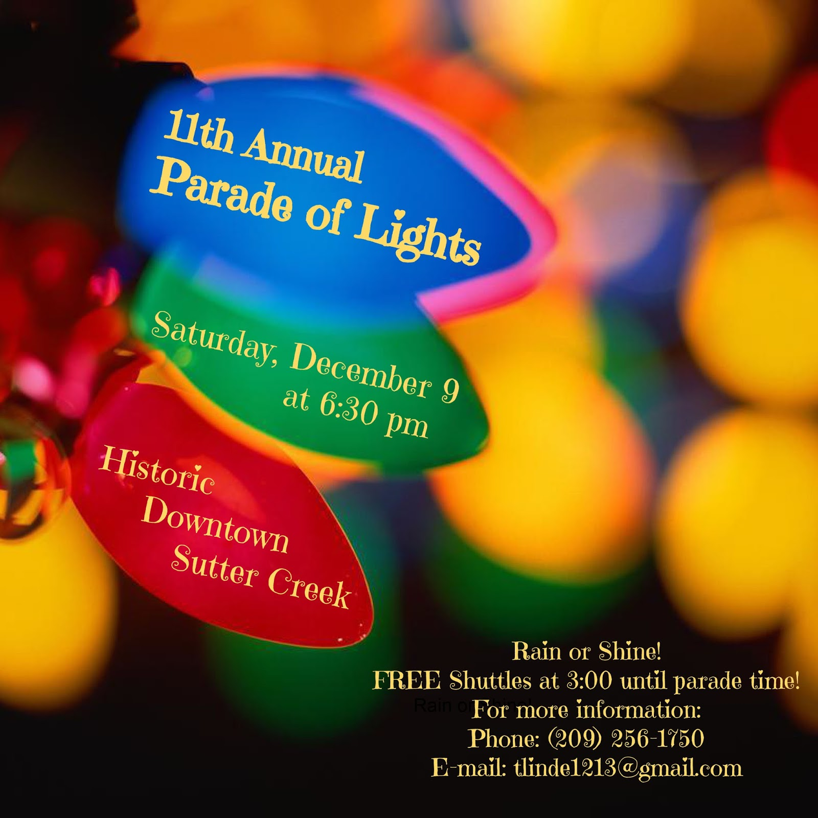 11th Annual Parade of Lights - Sat Dec 9
