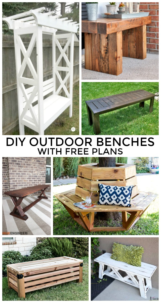 diy outdoor benches free plans