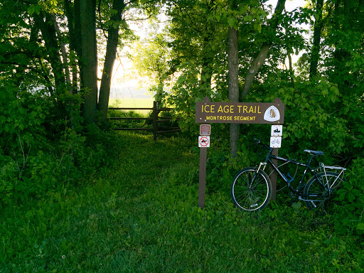 The Badger State Bike Trail and Montrose Segment of the Ice Age Trail