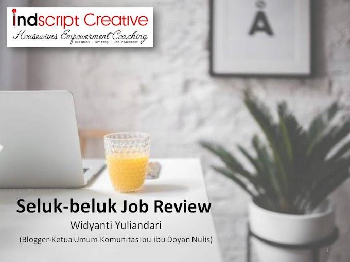 Belajar Tentang Seluk Beluk Job Review Bareng Widyanti Yuliandri