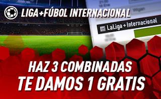 sportium Fútbol: Haz 3 Combinadas recibe 1 Gratis 10-12 mayo