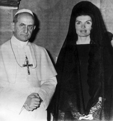 Jaqueline Kennedy visita ao papa, anos 60