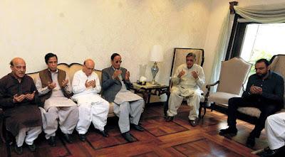 Chaudhry Shujaat Hussain and Chaudhry Pervaiz Elahi Visits Residence of Late Basit Hasan for Condolence.