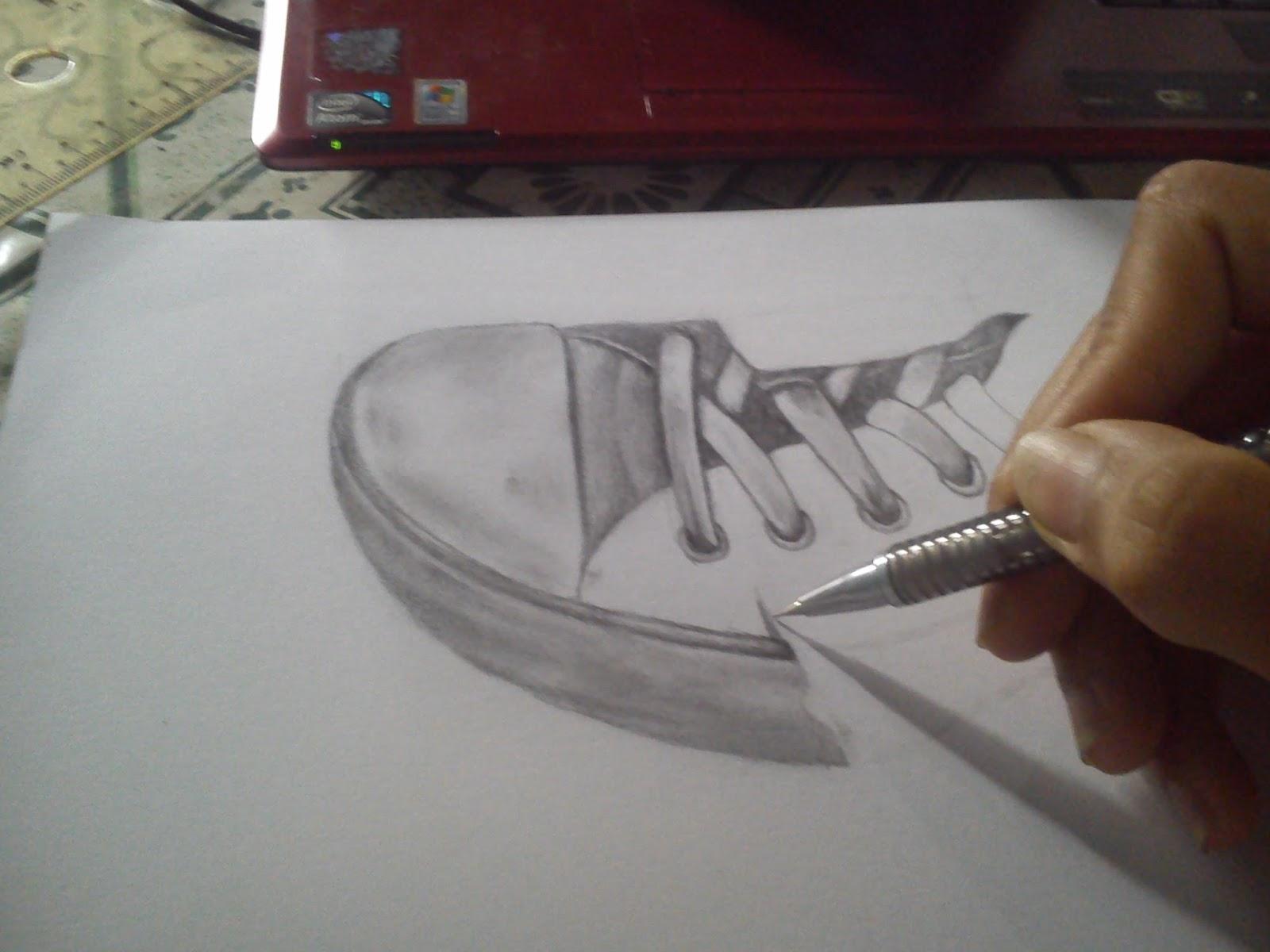 Contoh Gambar Sketsa Pensil 3d 3d Wallpapers