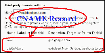 How to find remove blogger DNS cNAME record