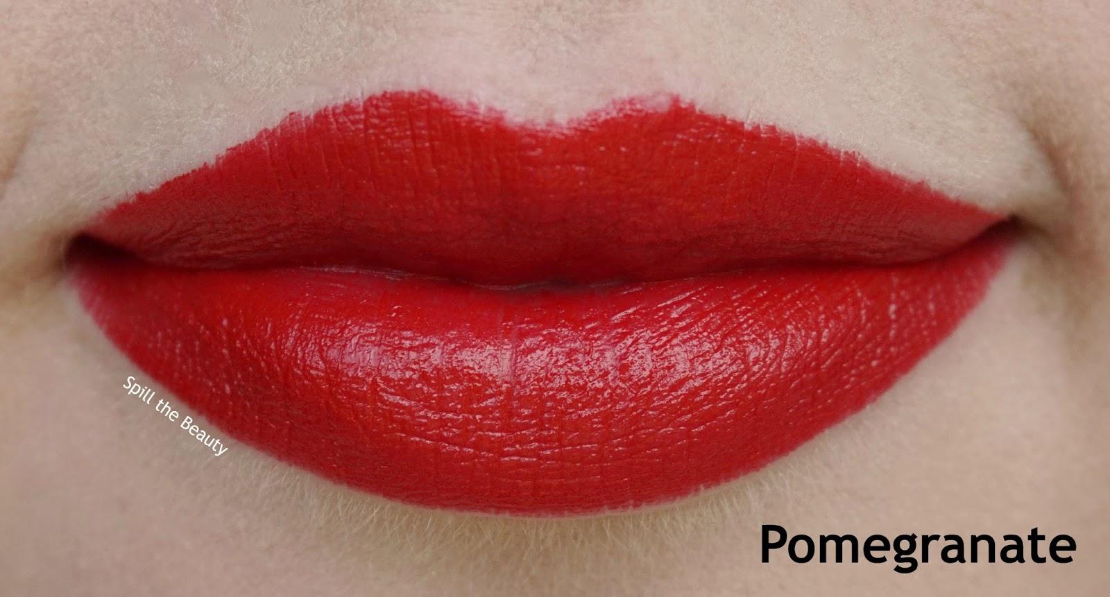 lip swatch bite beauty high pigment pencil pomegranate comparison dupe nars stila