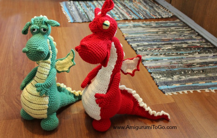 Large Amigurumi Pattern Free : Fierce or Sleepy Dragon Pattern Part One ~ Amigurumi To Go