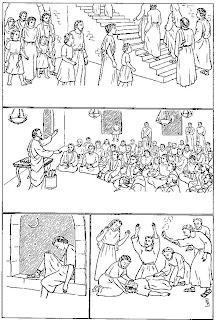 Historias de la Biblia para imprimir y colorear ~ Dibujos