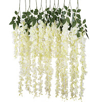 Realistic And Beautiful Artificial Silk Hanging Flowers