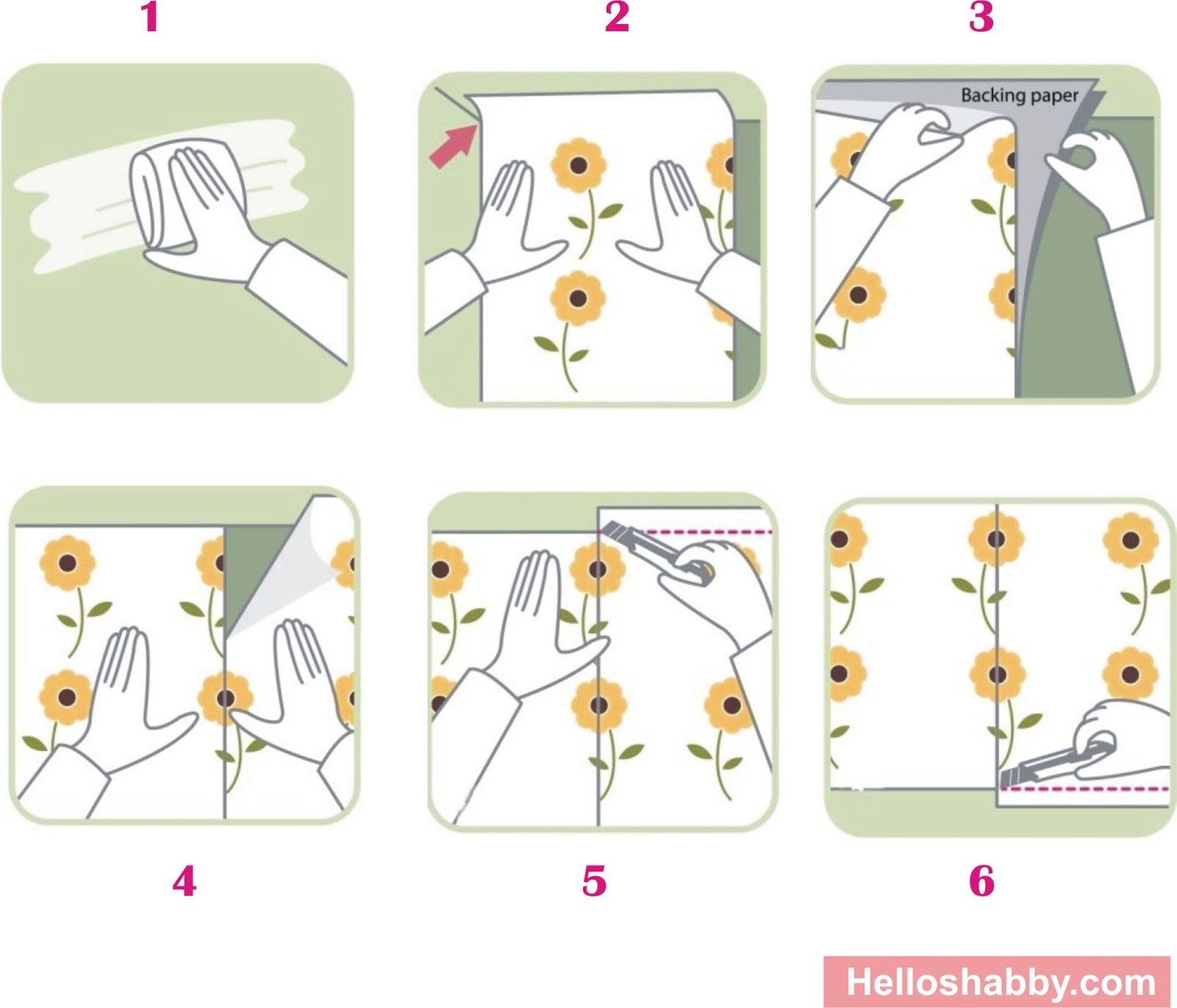 103 cara memasang wallpaper pada dinding rumah wallpaper - Cara pasang wallpaper ...