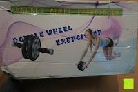 Verpackung beschädigt: KYLIN SPORT Bauchtrainer Ab Roller Bauchmuskeltrainer Dual Wheel Ab-Wheel mit Knie Pad