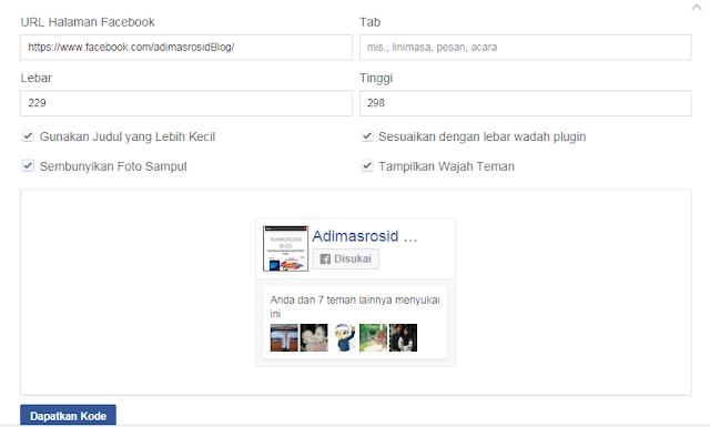 cara-memasang-fanspage-facebook-di-blog