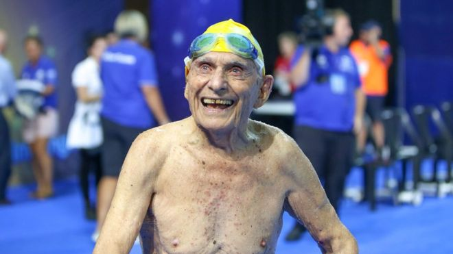 Swimmer, 99, 'breaks world record' in Australia