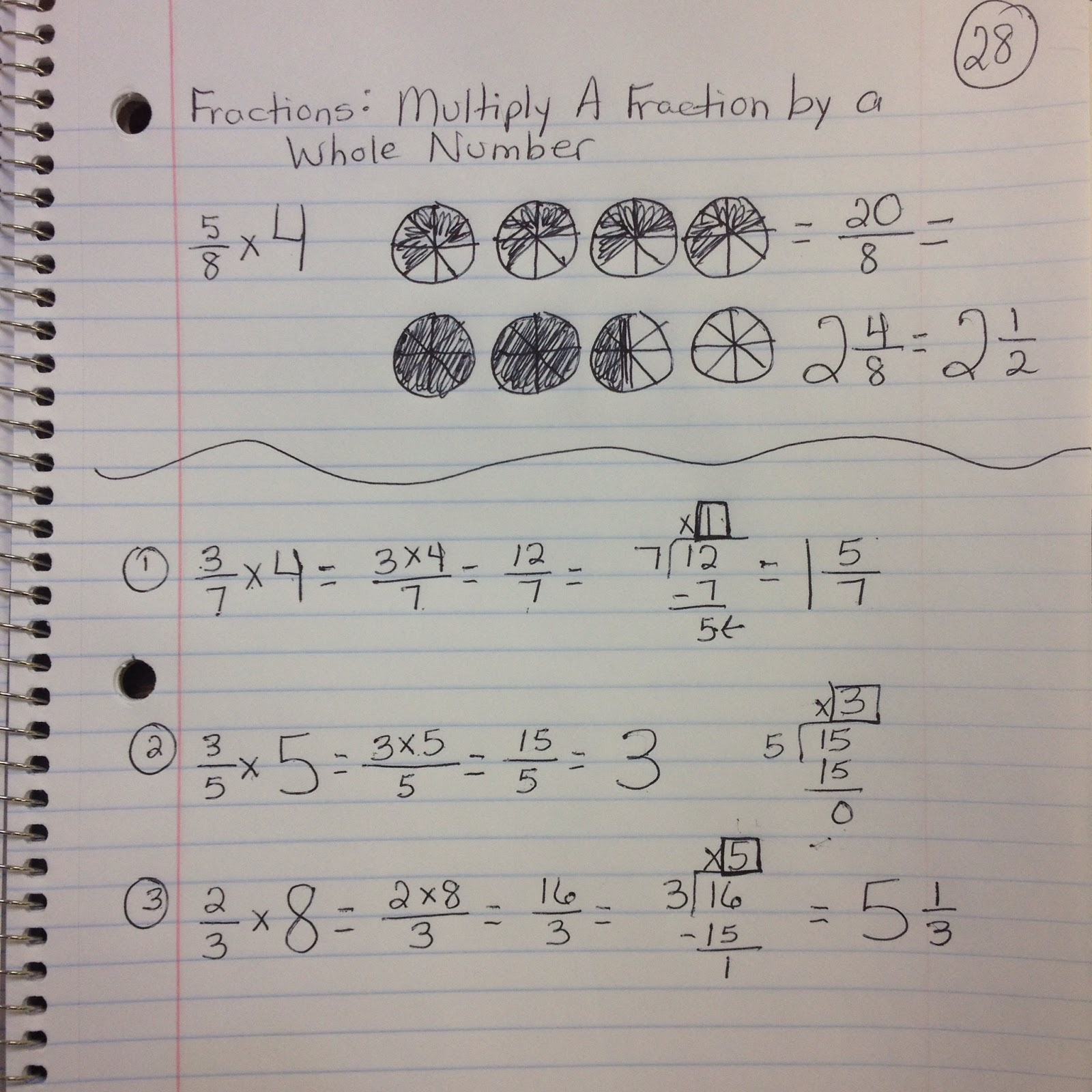 Math With Mrs D Multiply A Fraction By A Whole Number