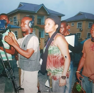 See Major Throw Back Of Omotola Jalade Ekinde on Set in 2009.
