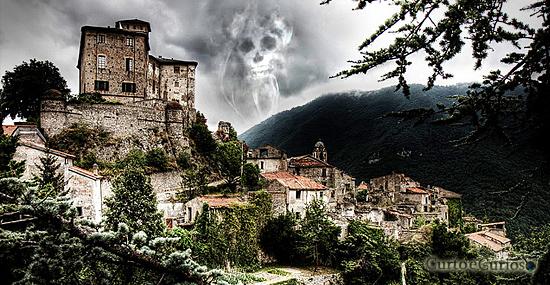 Cidade fantasma medieval Italia - Balestrino