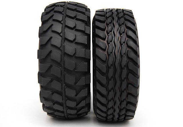 Tamiya Jeep Wrangler tires vs high lift tires
