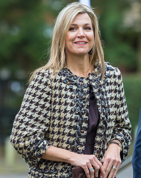 Queen Máxima of The Netherlands attends the annual meeting of the Global Alliance for Banking Values (GABV) hosted by Triodos Bank in Zeist, Utrecht