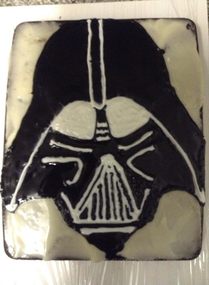 Darth Vader Star Wars Cake By Nikki Bennet