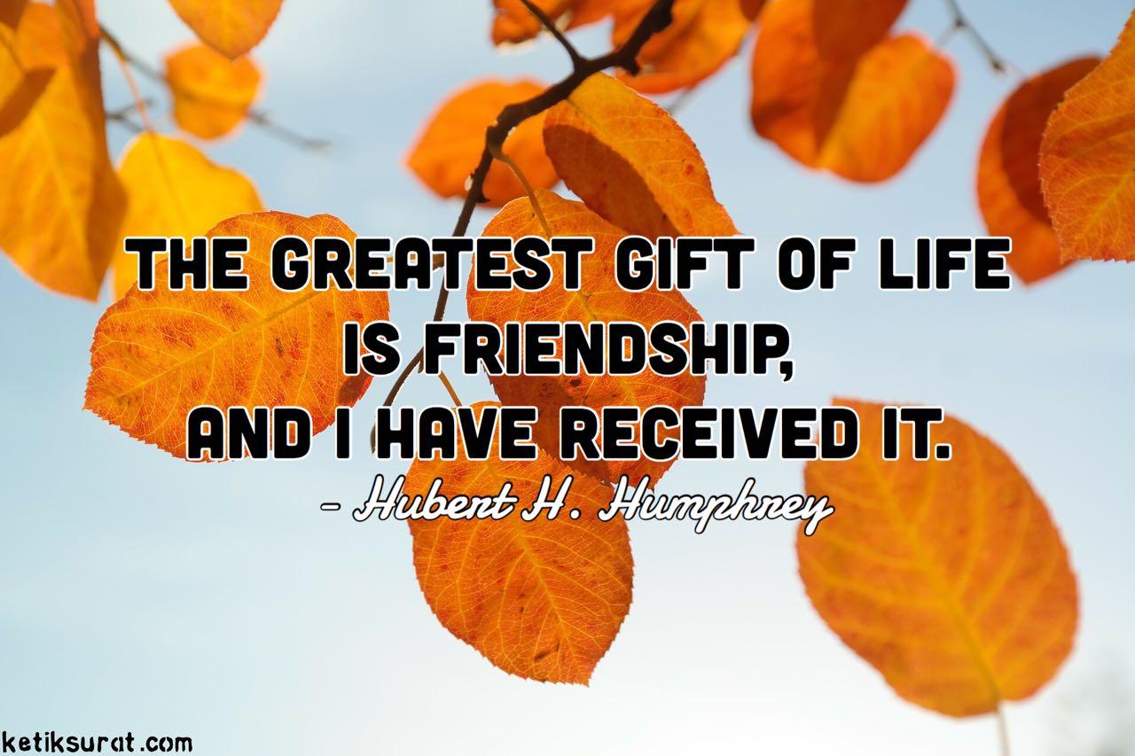 Quotes bahasa inggris about friendship dan artinya