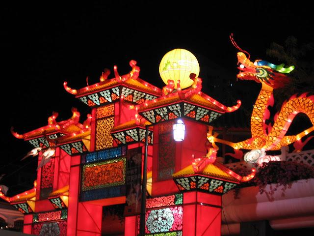 Chinatown Singapore durante le celebrazioni del Capodanno Cinese