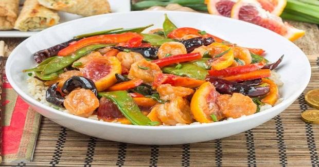 Blood Orange Shrimp Stir Fry Recipe