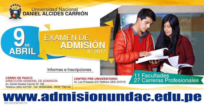 Resultados UNDAC 2017-2 (9 Abril) Ingresantes Examen Admisión Ordinario Universidad Nacional Daniel Alcides Carrión | www.admisionundac.com | www.undac.edu.pe