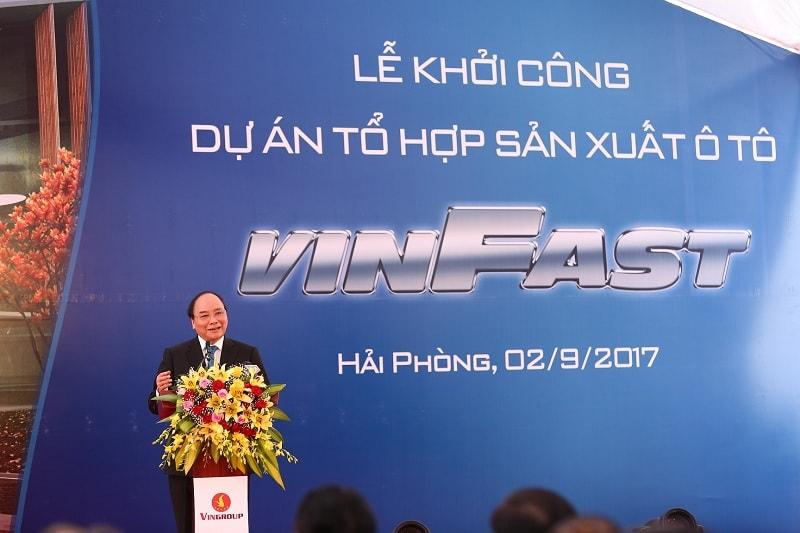 thu tuong tham du le khoi cong vinfast