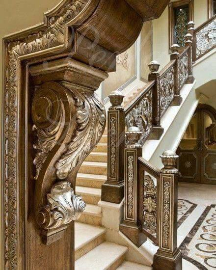 Rustic Wooden Handmade Staircase Railing Decorating Ideas
