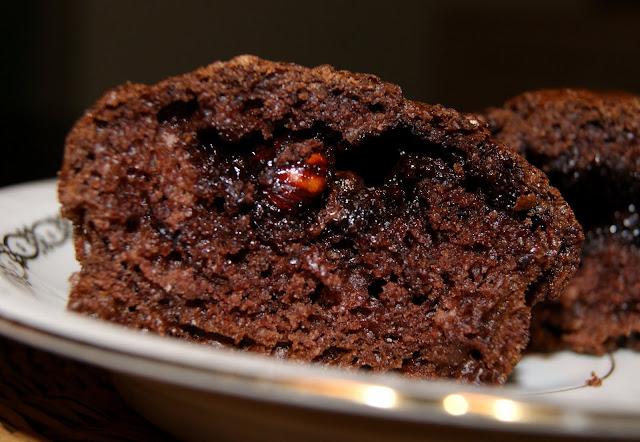 Muffinki czekoladowe z nutellą