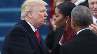 Trump pushes back at Michelle Obama