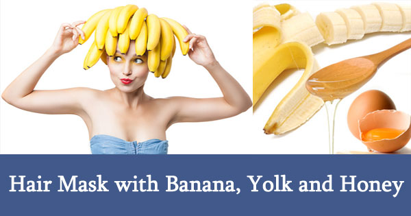 Hair Mask with Banana, Yolk and Honey