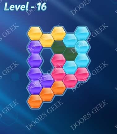 Block! Hexa Puzzle [Rainbow A] Level 16 Solution, Cheats, Walkthrough for android, iphone, ipad, ipod