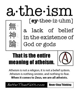 the definition of atheism