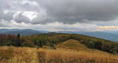 Panorama z Jasła na południe.