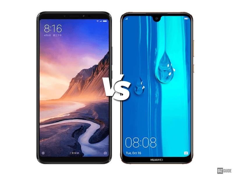Xiaomi Mi Max 3 vs Huawei Y Max Specs Comparison