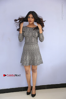 Chandini Chowdary Pictures in Short Dress at Howrah Bridge Movie Press Meet