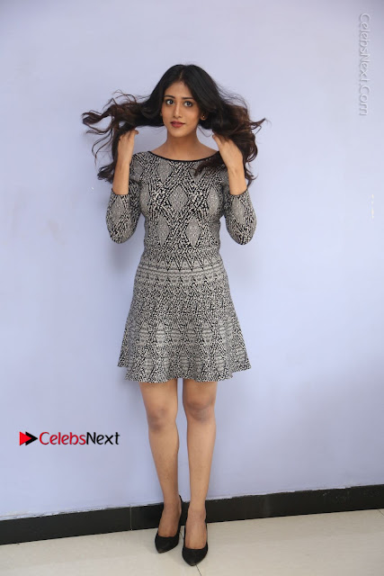 Actress Chandini Chowdary Pos in Short Dress at Howrah Bridge Movie Press Meet  0001.JPG