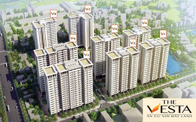 Chung cư The Vesta Phú Lãm