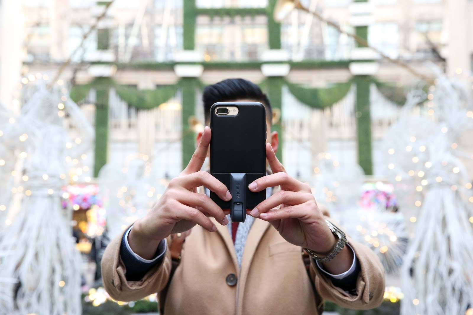 Levitate Style menswear NYC Holiday with Otterbox - Leo Chan
